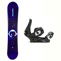 Black Fire Eclipse Wolf Stealth 3 Snowboard and Binding Package 2018, , 256