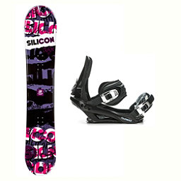 Silicon Crack Red Stealth 3 Snowboard and Binding Package 2018, , 256
