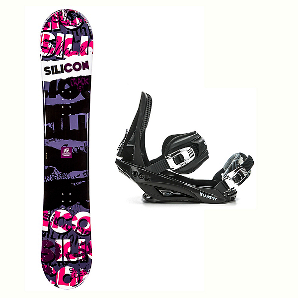 Silicon Crack Red Stealth 3 Snowboard and Binding Package, , 600