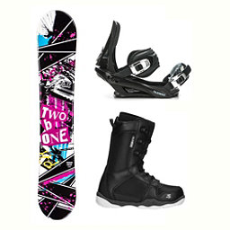 2B1 Arise Rocker ST-1 Complete Snowboard Package 2018, , 256