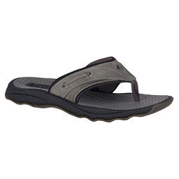 Sperry Outer Banks Thong Mens Flip Flops, Grey-Black, 256