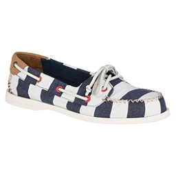 Sperry A/O Venice Canvas Womens Shoes, Navy-White, 256