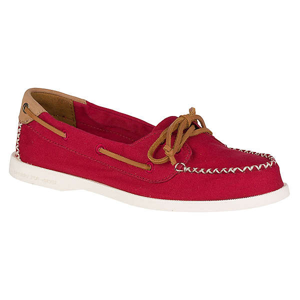 Sperry A/O Venice Canvas Womens Shoes, Red, 600