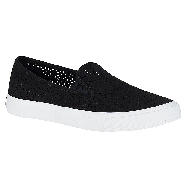 Sperry Seaside Nautical Perforated Womens Shoes, Black, 600