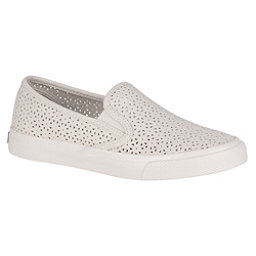 Sperry Seaside Nautical Perforated Womens Shoes, Ivory, 256