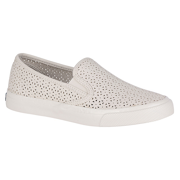 Sperry Seaside Nautical Perforated Womens Shoes, Ivory, 600