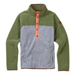 Burton Hearth Fleece Pullover Womens Shirt, Clover-Gray Heather, 256