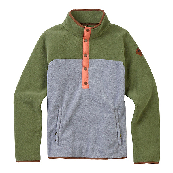 Burton Hearth Fleece Pullover Womens Shirt, Clover-Gray Heather, 600