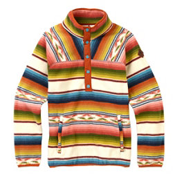 Burton Hearth Fleece Pullover Womens Shirt, Canvas Iris Stripe, 256
