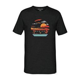 Hurley Desert Trip Mens T-Shirt, Black, 256