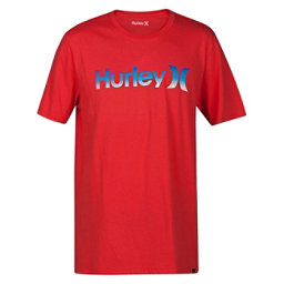 Hurley One and Only Gradient Mens T-Shirt, Track Red, 256