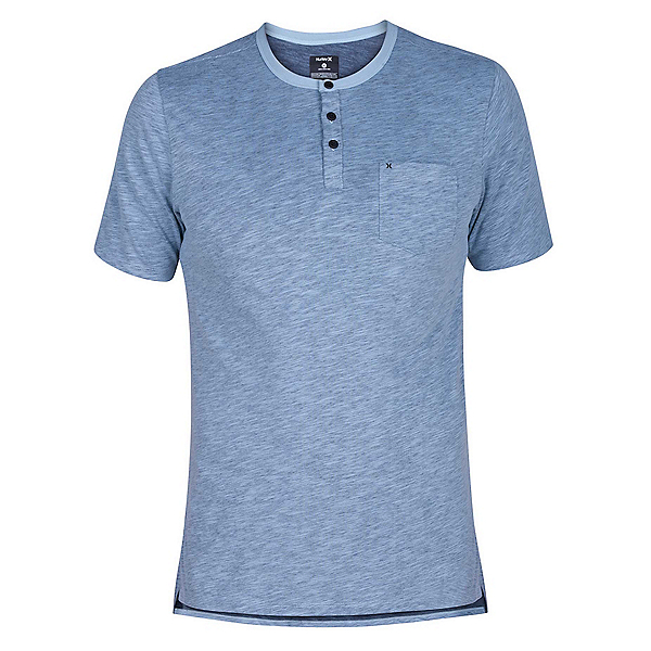 Hurley Dri-FIT Lagos Henley Mens Shirt, Ocean Bliss, 600