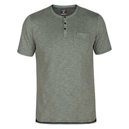 Hurley Dri-FIT Lagos Henley Mens Shirt, Clay Green, 256