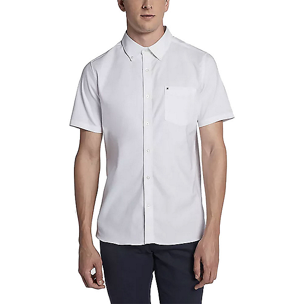 Hurley Dri-FIT One and Only Short Sleeve Mens Shirt, White, 600