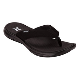 Hurley Flex 2.0 Mens Flip Flops, Black, 256