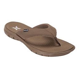 Hurley Flex 2.0 Mens Flip Flops, Khaki, 256
