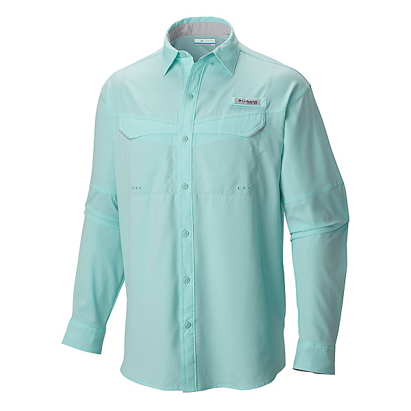 Columbia Low Drag Offshore Long Sleeve Mens Shirt, Gulf Stream, 600