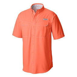 Columbia Low Drag Offshore Short Sleeve Mens Shirt, Bright Peach, 256