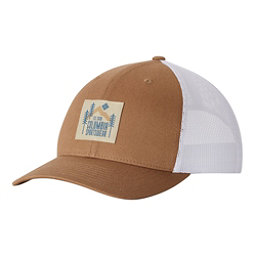 Columbia Mesh Snap Back Hat, Delta Evergreen Patch-White, 256