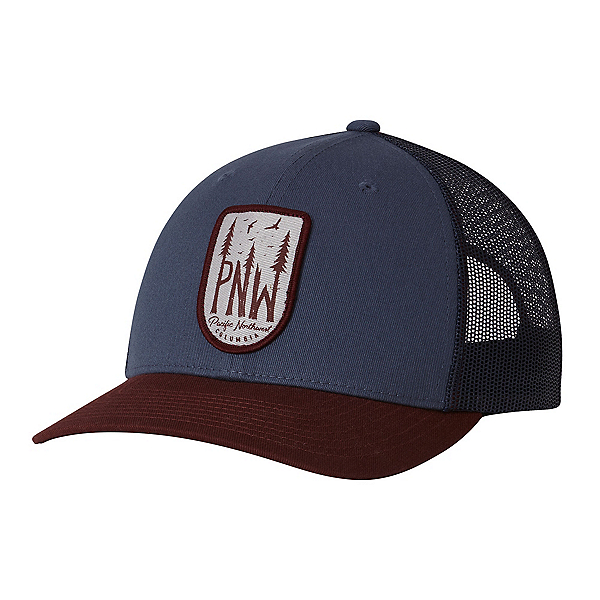 Columbia Mesh Snap Back Hat, Whale-Pnw Patch, 600