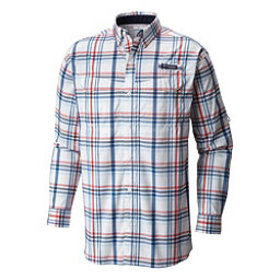 Columbia Super Low Drag Long Sleeve Mens Shirt, Collegiate Navy Open Plaid, 256