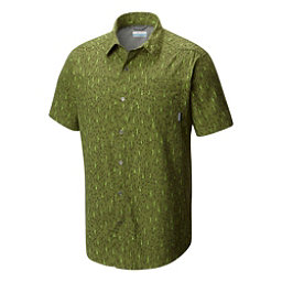 Columbia Pilsner Peak Print Short Sleeve Mens Shirt, Mosstone-Tree Print, 256