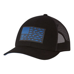 Columbia PFG Mesh Snap Back Hat, Black-Grill-Vivid Blue Fish Fl, 256