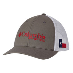 Columbia PFG Mesh Snap Back Hat, Titanium-Texas Flag, 256