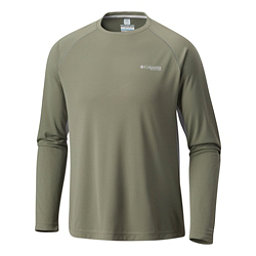 Columbia Cast Away Zero II Knit Long Sleeve Mens Shirt, Cypress-Cool Grey, 256