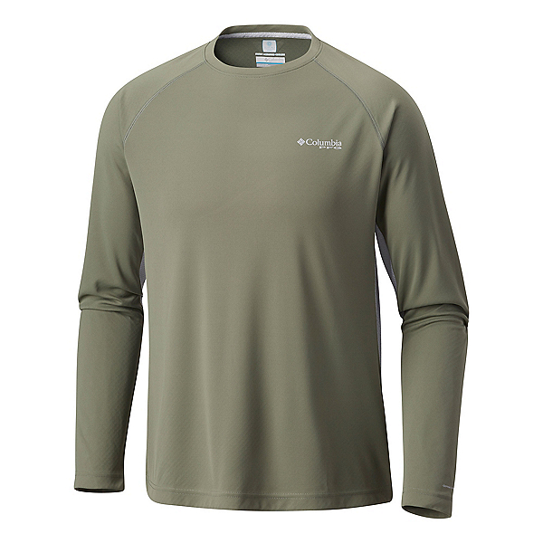 Columbia Cast Away Zero II Knit Long Sleeve Mens Shirt, Cypress-Cool Grey, 600