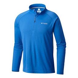 Columbia Cast Away Zero II Mens Shirt, Vivid Blue-Cool Grey, 256