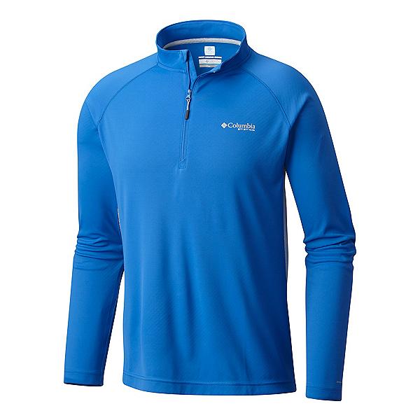 Columbia Cast Away Zero II Mens Shirt, Vivid Blue-Cool Grey, 600