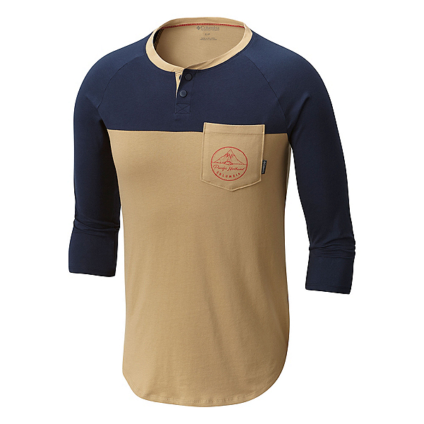 Columbia CSC 503 Graphic Henley Mens Shirt, , 600