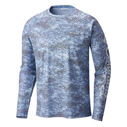 Columbia Solar Shade Printed Long Sleeve Mens Shirt, White Cap Digi Scale, 256