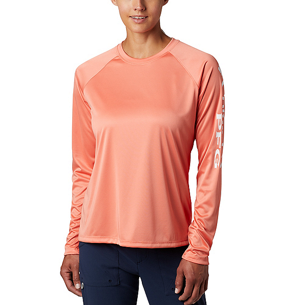 Columbia Tidal Tee II Long Sleeve Womens Shirt, Lychee-White, 600