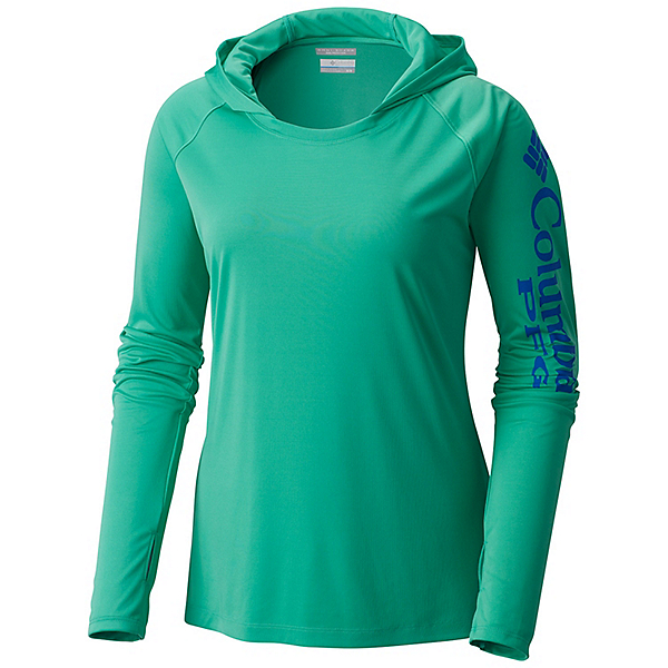 Columbia Tidal Tee Womens Hoodie, Winter Green-White, 600
