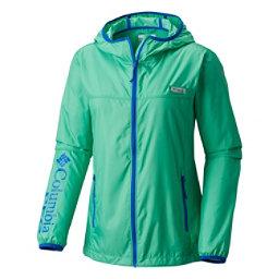 Columbia Tidal Windbreaker Womens Jacket, Winter Green-Blue Macaw, 256