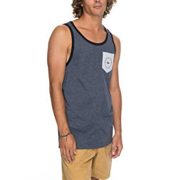 Quiksilver Camino Pocket Tank Top, Navy Blazer Heather, 256