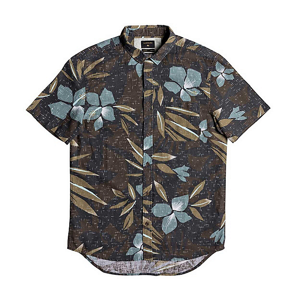 Quiksilver Linen Print Short Sleeve Mens Shirt, , 600