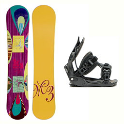 Millenium 3 Escape Haylo Womens Snowboard and Binding Package 2018, , 256