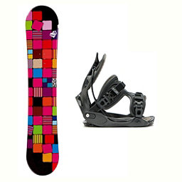 Sionyx Quilt Black Haylo Womens Snowboard and Binding Package 2018, , 256