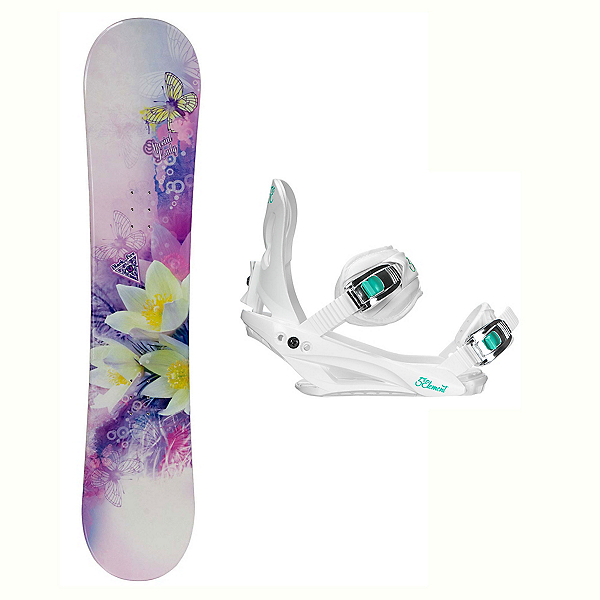 Black Fire Special Lady Purple Layla Womens Snowboard and Binding Package 2018, , 600