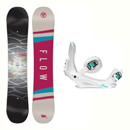 Flow Silhouette Layla Womens Snowboard and Binding Package 2018, , 256