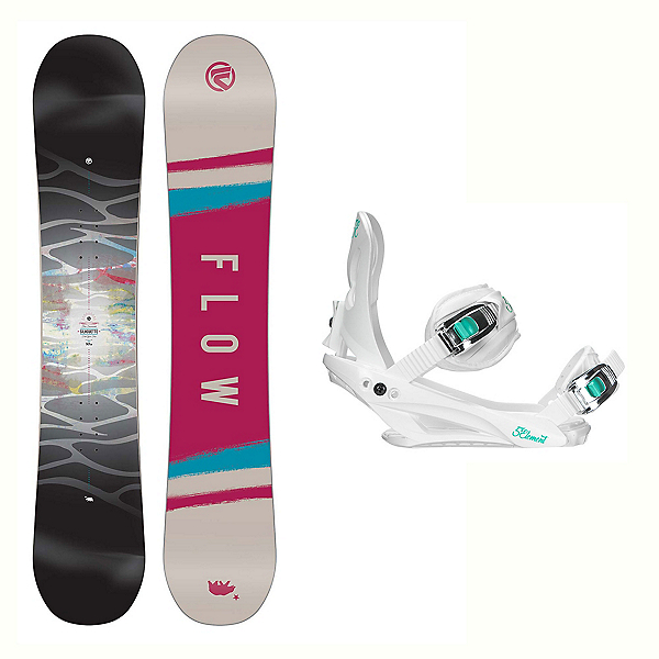 Flow Silhouette Layla Womens Snowboard and Binding Package 2018, , 600