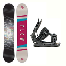 Flow Silhouette Haylo Womens Snowboard and Binding Package 2018, , 256