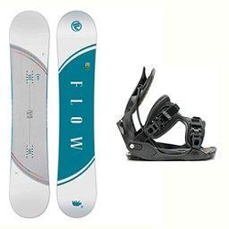 Flow Velvet Haylo Womens Snowboard and Binding Package 2018, , 256