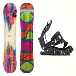Rossignol Diva MagTek Juno Hybrid Womens Snowboard and Binding Package 2018, , 256