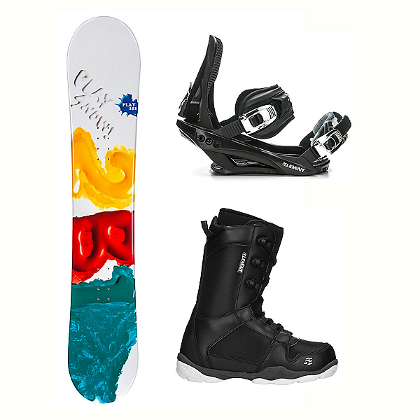 2B1 Play Green ST-1 Complete Snowboard Package, , 600
