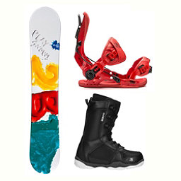 2B1 Play Green ST-1 Two Complete Snowboard Package 2018, , 256