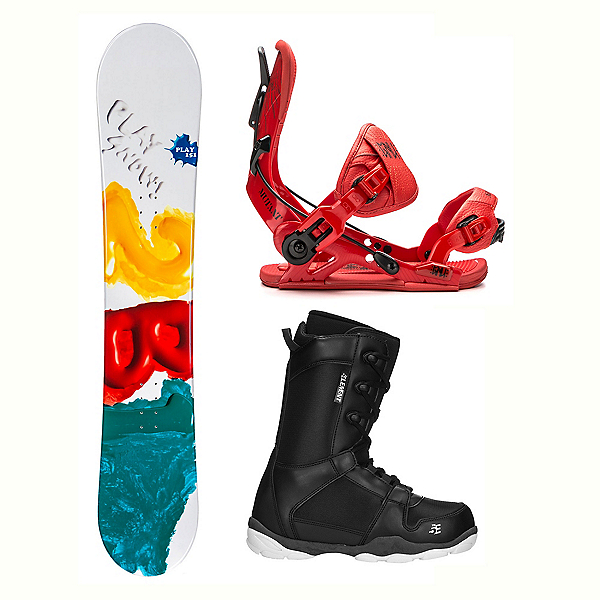 2B1 Play Green ST-1 Two Complete Snowboard Package 2018, , 600